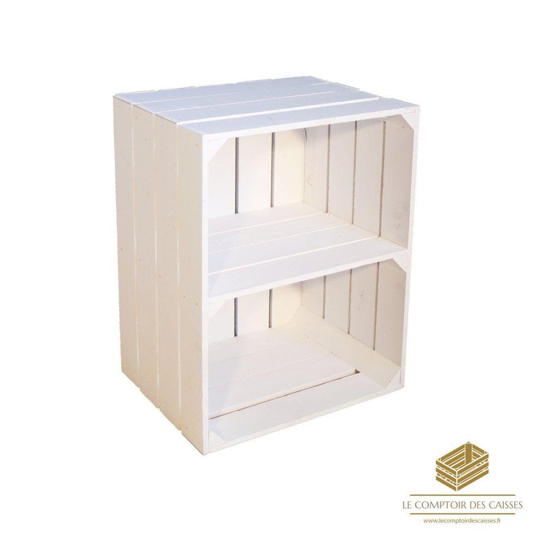 Deco Avec Des Caisses De Pommes la caisse à pommes étagère vertical blanche