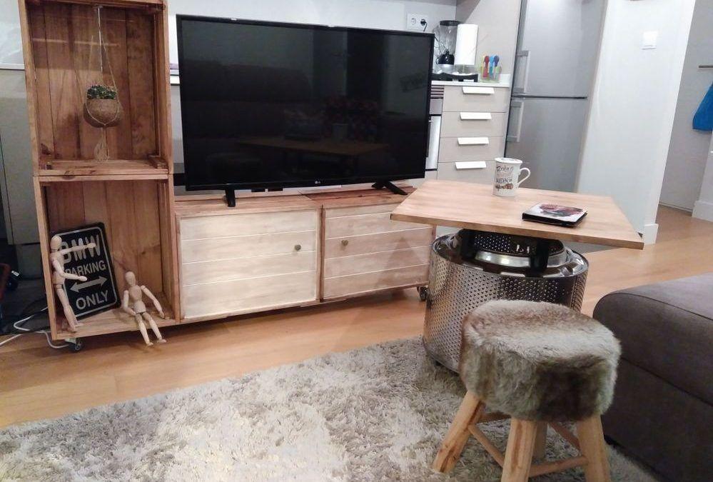 D.I.Y meuble TV avec des boîtes de fruits