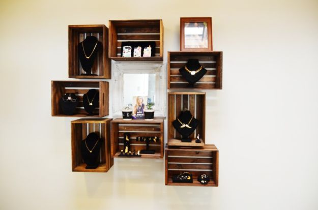 D.I.Y Range bijoux de caisses en bois